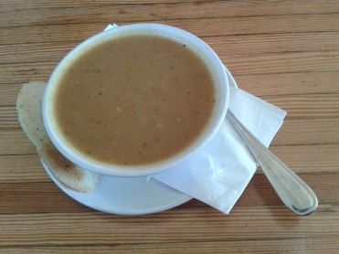 Roasted butternut squash and pear soup - yummmmmmmmmmmmmmmmmmm!